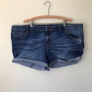 Ava & Viv Midi Denim Jean Plus Size Short